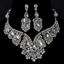 Vintage Inspired Bridal Necklace Set - Swarovski Crystal Necklace Set With Swaro Photo