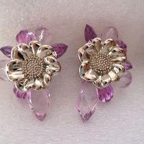 Vintage Inspired Lavender Bead Clip on Earrings by Two Sisters Photo
