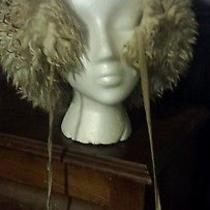 Vintage Italian Fur Hat Tuscan Lamb Italy White With Pom Poms Sale Photo