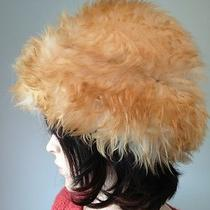 Vintage Italian Lamb Fur Hat Dyed Tuscan Lamb Made in Italy Photo