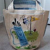 Vintage Ivory  Leather Golf Outing Purse Bag by T. J. Photo
