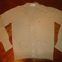 Vintage Izod Lacoste Acrylic Cardigan Sweater Photo
