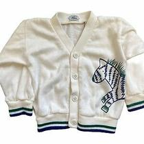 Vintage Izod Lacoste Baby Toddler Sweater Cardigan Small 18 Month Boy Photo