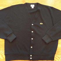 Vintage Izod Lacoste Navy 6 Button Cardigan Grunge Sweatermens Largeexcellent Photo
