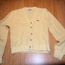 Vintage Izod Lacoste Orlon Acrylic Sweater Men's Medium Light Yellow Photo