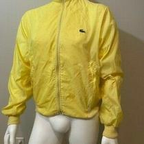 Vintage Izod Lacoste Yellow Windbreaker Jacket Full Zip Pockets Size Large Photo