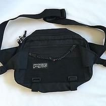 Vintage Jansport Black Fanny Waist Pack Hip Bag 12