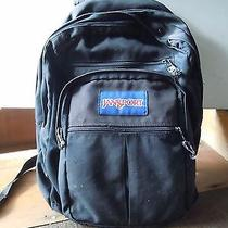 Vintage Jansport Black Nylon School Backpack College Bookbag Made in Usa Photo