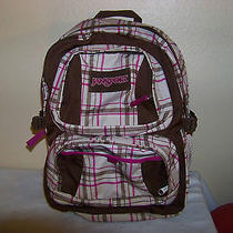 Vintage Jansport Checkered Print in Beige Brown & Purple for Up 17