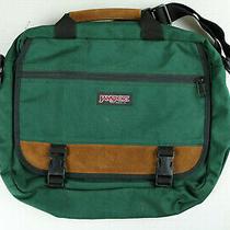 Vintage Jansport Green Laptop Messenger Bag Made in Usa Photo