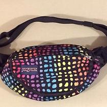 Vintage Jansport Rainbow Fanny Pack  Neon Color Print Spots 2 Compartments Photo