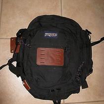 Vintage Jansport Super Bag Backpack Made in Usa Expandable Pouch Black Photo
