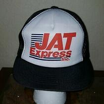 Vintage Jat Express Inc Mesh Trucker Hat Cap New Photo