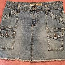 Vintage Jean Denim Fossil Mini Skirt Size 2 Photo
