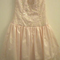 Vintage Jessica Mcclintock Strapless Short Formal Dress - Pale Pink - Size 5/6 Photo
