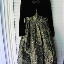 Vintage Jessica Mcclintock Taffeta Dress With Velvet Jacket Photo