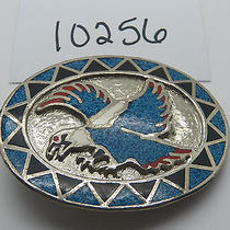 Vintage Jewelry Belt Buckle Native American Eagle Turquoise 10256 Photo