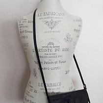 Vintage Joan & Davidblack Croc Embossed Leather Crossbody Shoulder Bag  Sg Photo