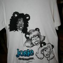 Vintage Josie and the Pussycats Portrait T Shirt Archie Comics Mint Black White Photo