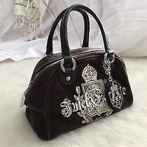 Vintage Juicy Couture Black Velvet Satchel Handbag Circa 2009 Photo