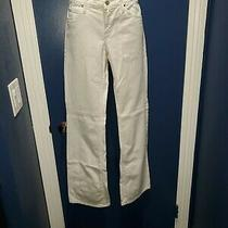 Vintage Juicy Couture Jeans Made in the Usa White Size 29 With Rhinestone Heart Photo