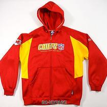 Vintage Kansas City Chiefs Reebok Nfl Full Zip Hooded Polyester Jacket Euc 20721 Photo