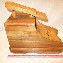 Vintage Karoff Wood Rise & Shine Shoe Shine Box  Brushes & Extras Photo