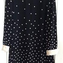 Vintage Kay Unger New York Black & White Polka Dot Dress Sz 8  Photo