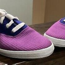 Vintage Keds Size 8 Sneakers Shoes Funky 1990s Purple Magenta Green Clean Colors Photo