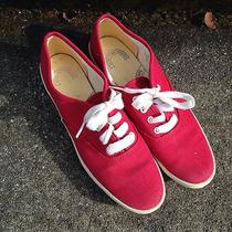 Vintage Keds Wk313s Red Canvas Sneakers Boat Shoes Lace Up Used 5.5 Womens Photo