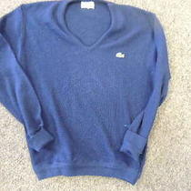 Vintage Lacoste Acryllic v Neck Sweater Large Photo