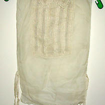 Vintage Ladies Embroidered and Lace Dickie Blouse With Mother of Pearl Buttons Photo