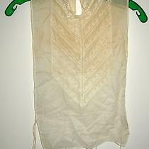 Vintage Ladies Lace Dickie Blouse With Mother of Pearl Button Photo