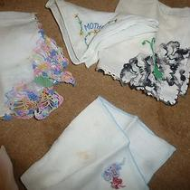 Vintage Lady's Handkerchief Lot -of 7 -