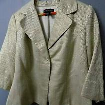 Vintage Lane Bryant Gold Inlay Womens Size 18 Blazer Metallic Shine 27 Photo