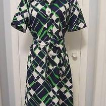 Vintage Lanvin Dress Mod Abstract Geometric Shirtdress True Vintage Medium-Large Photo