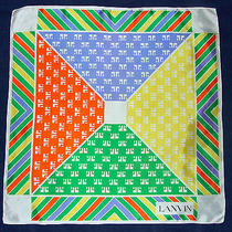 Vintage Lanvin Geometric Logo Promo Green Orange Blue White 26