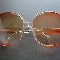 Vintage Lanvin Oversize Sunglasses Rose Clear Paris France Sk 13 23 1970's Photo