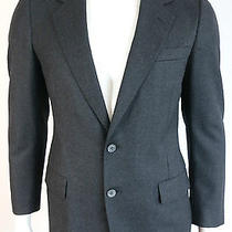 Vintage Lanvin Paris 1980's Era Dark Charcoal Virgin Wool Blazer Jacket Us 38 Photo