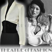 Vintage Lanvin Silk Shirt Blouse Corset Velvet 30s Wedding 40s Goddess 50s Vamp Photo