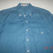 Vintage Lanvin Sport Long Sleeve Pure Linen Men's Shirt sz.4 Photo