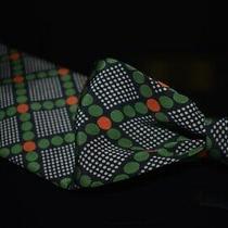 Vintage Lanvin St. Honore Paris Midnight Blue Crepe Green Mod Bubble Diamond Tie Photo