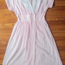 Vintage Large 11/12 Avon Fashions Pink Polka Dot Sweetheart Dress Lace Collar Photo