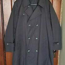 Vintage Large Men's Trench Coat Made in the Usa Whaling Manufacturing Company.  Photo