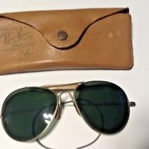 Vintage Large Ray Ban Aviator Sunglasses With Vintage Case Bausch & Lomb Photo