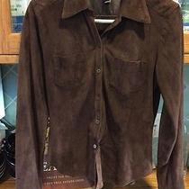 Vintage Laundry by Shelli Segal Women's Brown Suede Button Down Shirt Sz Xs Photo