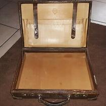 Vintage Leather Abercrombie and Fitch Breifcase With Brass Edges Made in Italy Photo