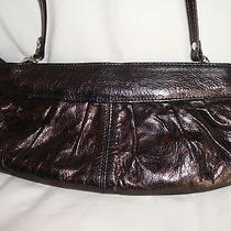 Vintage Leather Bag Clutch Purse Removable Strap Aldo Metallic Brown Best Buy Photo