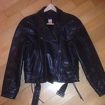 Vintage Leather Motorcycle Jacket Mondi a Division of Escada  Photo