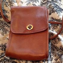 Vintage Leather (Tanned Cowhide)coach Satchel Serial  0426 108 Photo